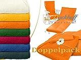 Dyckhoff Doppelpack zum Sparpreis - Schonbezüge für Gartenstuhl & Gartenliege aus dem Hause - erhältlich in 6 sommerlichen Farben - mit Kapuze für besseren Halt, Gartenliege (70 x 200 cm), orange
