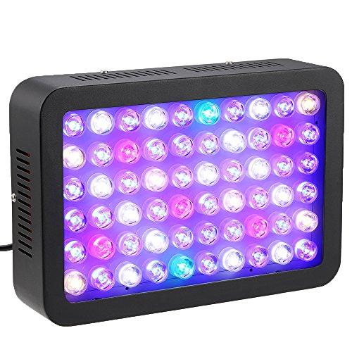 Lampe Aquarium Full Spectrum (Docooler Aquarium Licht, Dimmbare Full Spectrum für Riff-Fisch-Coral-Behälter, Lichtstrom: 1200lm, 120W 60LEDS)