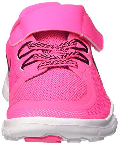 Nike Free 5 (Psv), Chaussures de Tennis Fille Rosa / noir / Blanc (Pink Pow / Black-Vivid Pink-Wht)