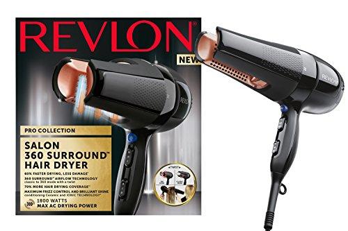 Revlon Pro Collection Salon 360 Surround Ac secador de pelo, 1800 W