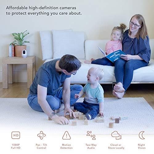 nooie Cámara WiFi,  Cámara IP,  Nooie 1080P,  inalámbrica de 360 grados,  Cámara de seguridad para el hogar,  Seguimiento de movimiento,  Visión nocturna Super IR,  Audio bidireccional