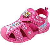 Disney Frozen Elsa Anna Forever Lighting Girls Pink Sandals Shoes