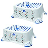 """Disney Frozen Olaf Baby Child & Toddler Step Stool TWO PACK 14cm/5.5"""" White/Purple"""