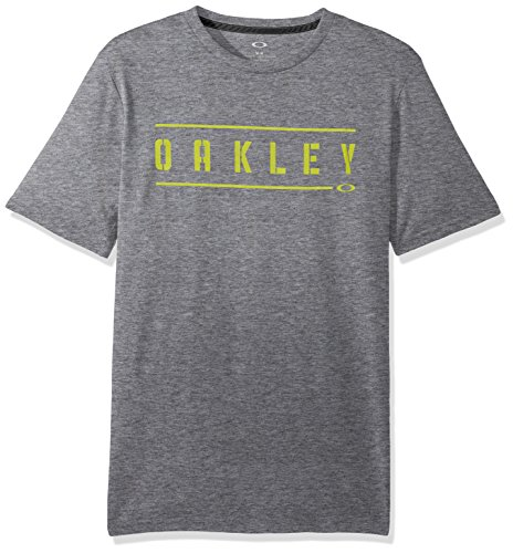 Oakley Herren O- Double Stack Printable Tees, Athletic Heather Grey, S