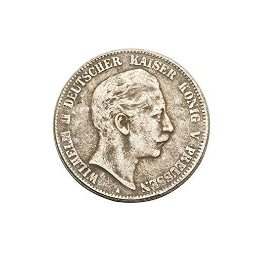 Eqerlian Silberdollar Silbermünze Antiksammlung Messingmünze 1907 Deutschland Wilhelm II Silbermünze Münzsammlung