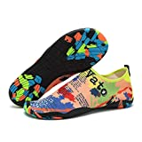 MongGood Wasserschuhe Herren Damen Schnorcheln Schuhe Strand Surfen Tauchen Barfuß Haut Schuhe Schnell Trocknend rutschfest Leicht - Landkarte, 6.5 UK