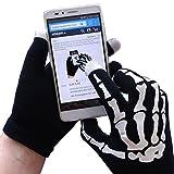 MPG Handy Handschuhe, Touch Handschuhe, Touchscreen Handschuhe, Für alle Smartphones, Schwarz mit Druck, Einheitsgröße