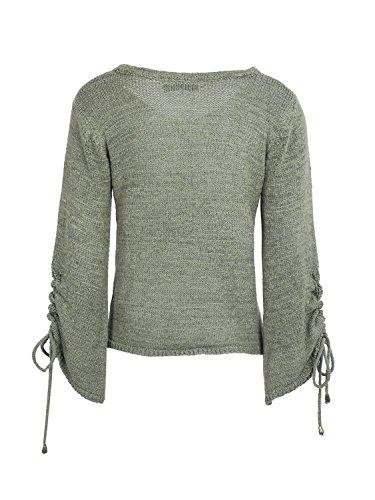 Simplee Apparel Damen Pullover armee-grün
