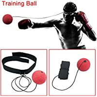 lzndeal Boxing Punch Exercise Fight Ball With Head Band For Fitness Speed Training Boxing