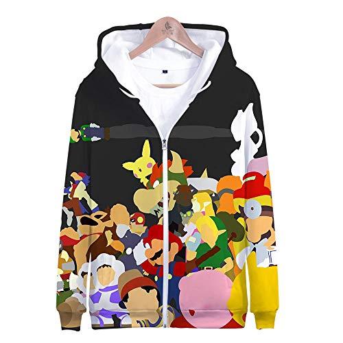 Kostüm Smash Bros Alle - Kapuzenpullover,Super Smash Bros Man Beiläufige Hoodies Pullover Langarm 3D Pullover Sweatshirts Lust auf Hoodie mit @ Anime_2XS