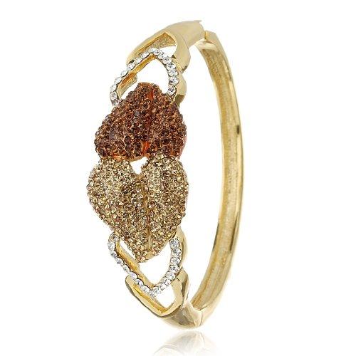 love-heartscontemporary-bracciale-cuff-un-regalo-perfetto-per-love-showered-intemperie-in-cristalli-
