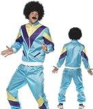 80er Jahre Kostüm für Herren Trainingsanzug Training Assianzug Assi in Hellblau hellblauer Anzug Gr. 48/50 (M), 52/54 (L), 54/56 (XL), Größe:XL