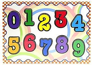 JUINSA- Puzzle Encajes Madera números, 30 x 23 cm (12913)