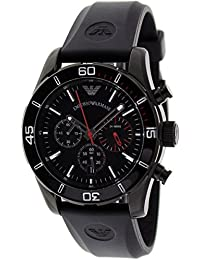 Emporio Armani AR5948 - Reloj para hombres, correa de goma color negro