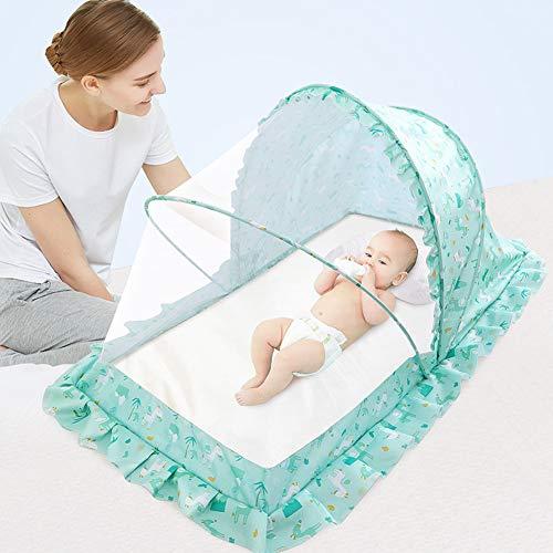 Moskitonetz für Babybetten, Bettmoskitonetz, ungiftiger Schlafschutz Langlebiges Insektenschutzmittel Faltbares Netz für Reisebett Full Cover Encryption Mesh - Reisebett Cover Mesh