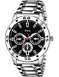 Braton BT1153SM01 Master Piece Black Dial Stainless Steel Strap Analog Wrist Watch - For Men