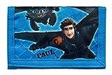 Geldbeutel mit Namen | Motiv Dragons Drache inkl. Namensdruck | Bedrucken & Personalisieren | Geldbörse Kindergeldbeutel Klarsichteinschub Klettverrschluss Münzfach
