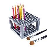 Yunhigh 96 Trous Stylo Crayon Peinture Pinceau Porte en Plastique présentoir de Bureau Organisateur de Stockage pour Gel stylos pinceaux Crayons de Couleur marqueurs