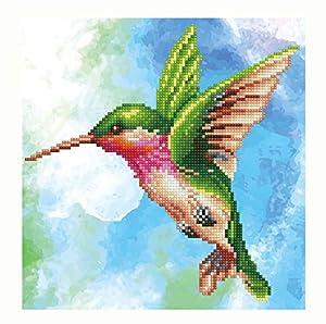 Pracht Creatives Hobby DD5-031 - Diamond Dotz colibrí, Brillante Imagen de Diamante para Personalizar, Aprox. 28 x 29 cm, Pintar con Diamantes, Nueva y Creativa Tendencia de Bricolaje.