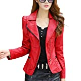Best Leather Jackets For Women - LOCOMO Women Girl Faux Leather Jacket Lapel Moto Review
