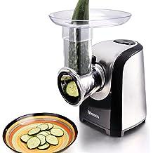 Homdox Hachoir électrique multifonction Slicer Fresh Express Max 5 en 1 pour Râper fruits et légumes 150 W