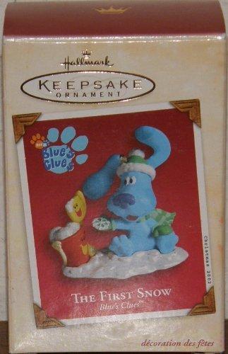 Hallmark Keepsake Blau 's Hinweise der erste Schnee 2002Weihnachten Ornament