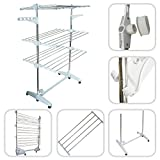 Todeco 3 Tier Foldable Laundry Drying Rack
