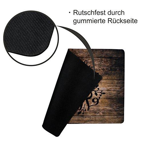 Fußmatte außen und innen Tür-Matte mit Spruch Home Sweet Home Stilingo Fußabtreter Vorleger drinnen und draußen 70 x 50 cm - 3