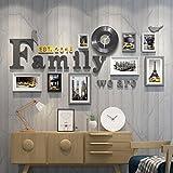 Foto an der Wand Uhr Wand Bilderrahmen Kombination Restaurant Schlafzimmer Flur Wohnzimmer Sofa Hintergrund Wand Bilderrahmen Dekoration (Farbe : C)