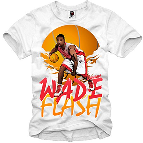 Team Dream Usa (E1SYNDICATE T-SHIRT DWYANE WADE FLASH BASKETBALL HEAT USA DREAM TEAM ICON S-XL)