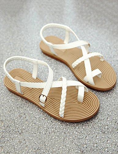 Sommer neue wilde Sandalen Frauen rutschige Mode tragen Hausschuhe Frau flache Sandalen und Hausschuhe ( Farbe : B , größe : EU37/UK4.5-5/CN37 ) B