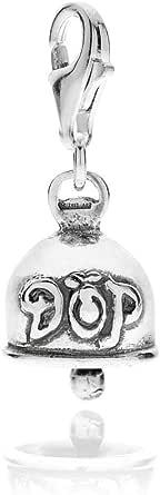 Gioielli DOP - Ciondolo Campanella in argento 925 - Charm in argento 925 con smalto - Fatto a mano in Italia - Ciondolo con smalto antigraffio - Garanzia di 2 anni
