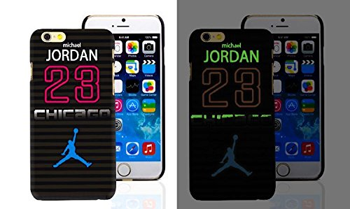 RONNEY'S Air Jordan Luminous PC BLACK Hard Case for Apple Iphone 6+/6+S DESIGN 1 Design 12