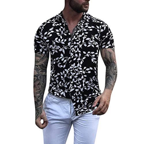 Vovotrade Camicia Elegante da Uomo Camicia V Collo camicieda Top Aderenti