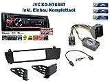 BMW X3 E83 (ohne Werkseitiger Navi) Autoradio Einbauset *Schwarz* inkl. JVC KD-R784BT und Lenkrad Fernbedienung Adapter