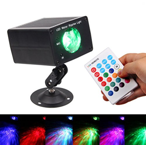Discokugel LED Party Lampe Beleuchtung 16 Farben DJ Licht mit Fernbedienung Disco Party Lichter Musik und Stimme Steuerung Bühnenbeleuchtung Effektlicht für Weihnachten Party Club Bar Geburtstag