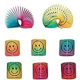 CCINEE 24 resortes de cara sonriente, resortes de arcoíris sonrientes...