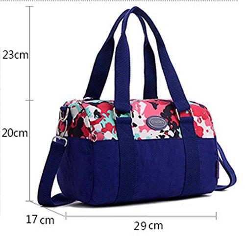 Keshi Nylon Cool Damen Handtaschen, Hobo-Bags, Schultertaschen, Beutel, Beuteltaschen, Trend-Bags, Velours, Veloursleder, Wildleder, Tasche Mehrfarbig 2