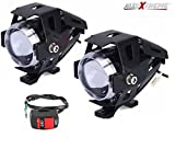 #1: AllExtreme U5 CREE LED Driving Fog Light Fog in Aluminum Body for All Motorcycles, ATV and Bikes with Switch (15W, Pack of 2)