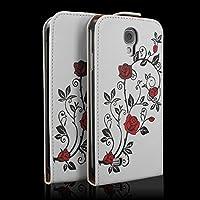 """Tasche Case Hülle für Samsung Galaxy S4 GT-I9505 Schutzhülle Tasche Flipcase Cover Schutz Hülle """"Rose"""""""