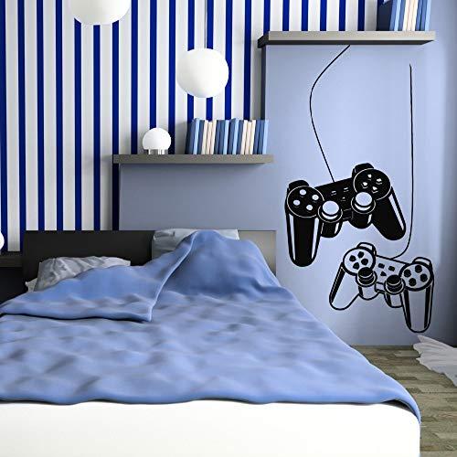 Yyoutop Jungen Wandaufkleber Dekoration Spiel Gaming Controller Decals Vinyl Wandtattoos für Kinder spielzimmer Schlafzimmer adesivo 1 57X104 cm (Decals Kinder-spielzimmer)