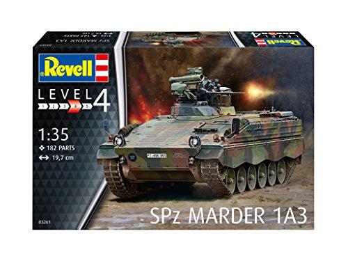 Revell 03261 Modellbausatz, Panzer 1:35 - Spz Marder 1 A3, Level 4, Orginalgetreue Nachbildung mit Vielen Details