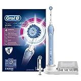 Oral-B SmartSeries 4000 elektrische Zahnbürste, mit Timer und zwei Sensi-Clean Aufsteckbürsten, weiß/blau