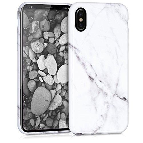 kwmobile Apple iPhone X Hülle - Handyhülle für Apple iPhone X - Handy Case in Weiß Schwarz