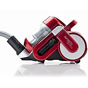 Dirt devil - m5051-1 - Aspirateur sans sac multiclyclone 1600w rouge INFINITY EXCELL