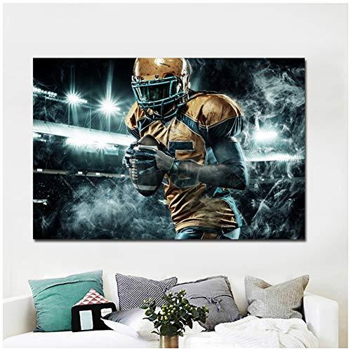 sjkkad HD Drucke American Football männer uniform handschuh Ball malerei Poster drucken wandbilder für Wohnzimmer dekor-60x90 cm kein Rahmen
