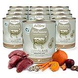 AniForte® PureNature Nassfutter 800g Farms Lamb Hundefutter- Naturprodukt für Hunde (Herzhaftes Lamm, 12x800g)