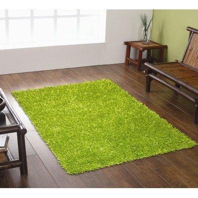 Shag Green Rug Rug (Spider Lime Grün Shag Teppich Teppich Größe: 160cm x 110cm (5ft 3in x 3ft 7,5in))