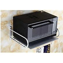 QUEEN'S Unión Retro aluminio espacio/horno microondas/armarios rack/especias en la cocina particiones racks/estantes