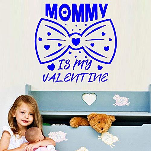 yaoxingfu Mommy Is My Valentine Simpatici Adesivi Decalcomanie da Parete in Vinile con Fiocco in Vinile Decorazioni per la casa per la Camera dei Bambini Smontabile murale Amore WW-3 91x88cm
